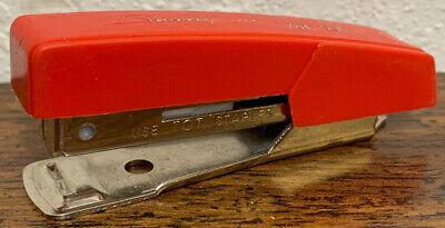 Vintage Swingline Usa Old Red Tot 50 Miniature 3 Finger Pocket Stapler