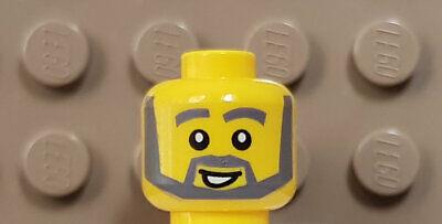 LEGO City Figur 1 x Kopf / Gesicht Mann mit grauer Vollbart NEUWARE