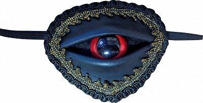 Ausgefallene Augenklappe mit rotem Auge für Piraten-Kostüm Fluch der Karibik