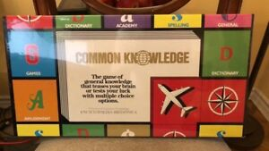 Vintage 1983 Sealed Common Knowledge Collectable Board Game