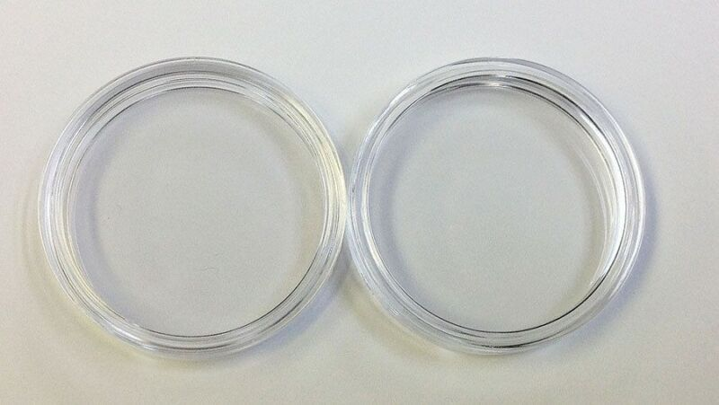 NEW Set (2) 40 mm Air Tite Casino Poker Chip Acrylic Holders 2 Air Tites NEW *