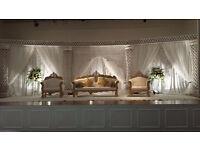 Asian Wedding stages, mendhi stages, deco, centre pieces, event management, birmingham & midlands