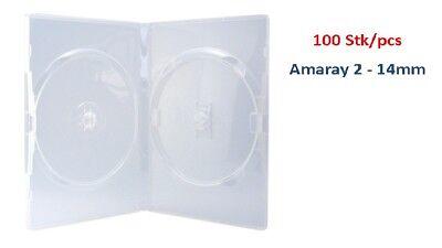Amaray DVD Hüllen transparent für 2 Discs, Face to Face, 100 Stück