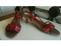Marco Tozzi red sandals