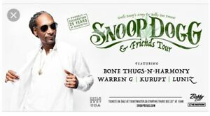 one ticket left for snoop dogg an friends