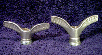 2 old stock nuts butterfly old bicycle set wing nuts brass 9 mm vintage