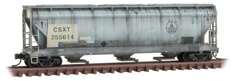 Micro-Trains MTL N-Scale 3-Bay Covered Hopper CSX Family Tree/B&O #255614