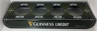 GUINNESS LINE OUT 4 PINT HOLDER CARRY TRAY RUGBY WORLD CUP MAN CAVE CHRISTMAS Carry Out Tray 4 Cup