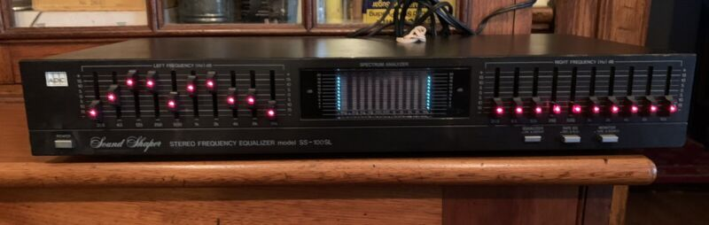 ADC SS-100SL Sound Shaper Stereo Frequency Equalizer, Pre Owned.
