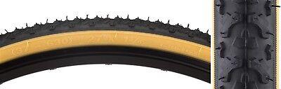 Sunlite Track (Sunlite Hybrid V-Track Tires  - Hybrid - 27X1-3/8  - 630 - Wire - Bk/Gum - 70 -)