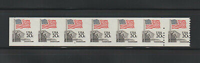 US ERROR Stamps #1895d Flag Court Imperf PS7 #9 w/ transition! MNH