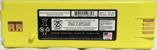 Replacement Battery for Cardiac Science AED G3: 9146-102. 9146-202. 9146-302 ZP9