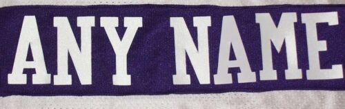 "3"" WHITE Twill Letters - ANY NAME for a Nameplate on a Football or Hockey Jersey"