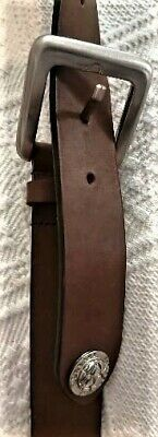 Versace Jeans Couture Belt, size 54 brown Leather. Made in Italy.