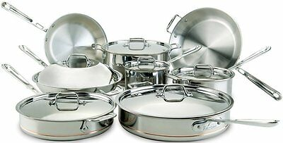 ALL-CLAD 14PC COPPER CORE COOKWARE SET 60090 NEW