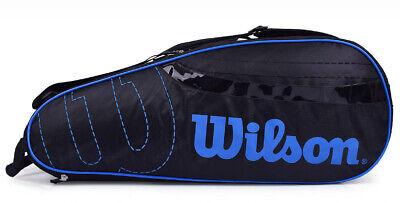 Wilson Tennis Badminton Bag Backpack 2 Pack Racquet Bag Black Blue WRR614300