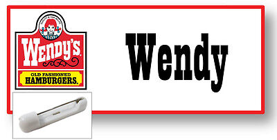 1 NAME BADGE FUNNY HALLOWEEN COSTUME WENDY OF WENDYS BURGERS PIN FREE SHIPPING (Name Of Halloween Costumes)