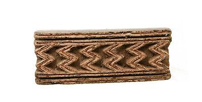 Antique Bunta Stamped Wood Printing Fabric Textile Batik Rajasthan India X36