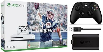 Xbox One S 1Tb Madden Bundle   Xbox One S Controller   Play And Charge