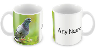 Personalised Pigeon Mug Coffee Cup Birds racing carrier novelty gift idea 87