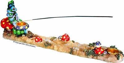 Alice Wonderland Magic Caterpillar Mushroom Polyresin Incense Stick burner
