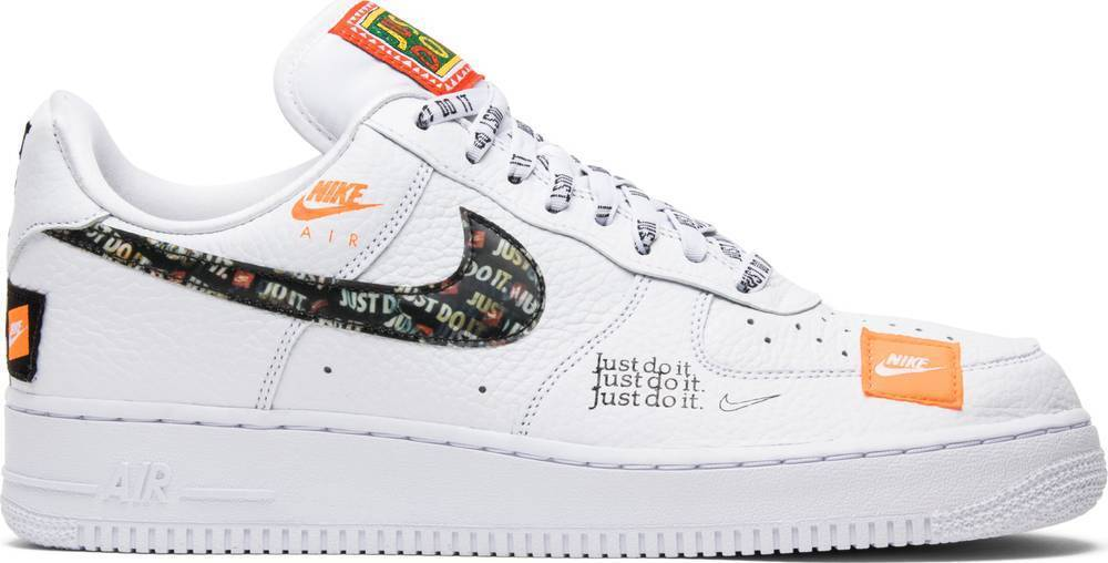 9212ff9a Nike Air Force 1 07 PRM JDI Just Do It White Black AR7719-100 Authentic
