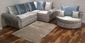 BRAND NEW DQF Crush Corner Sofa 8ft x 6ft. ONLY £499!!