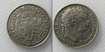 Collectable 1819 King George III Silver Sixpence