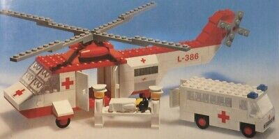 Vintage Lego Legoland Hospital Rescue Set 770 - Most pieces original to set NICE