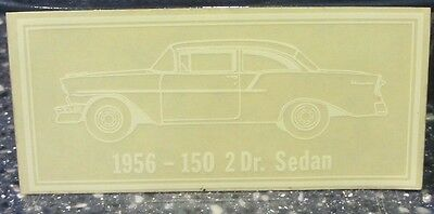 1956 Chevy 150 2 Door Sedan Window Decal