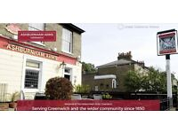 **NEW OWNERS** KITCHEN AND BAR STAFF NEEDED FOR LOCAL PUB. GREENWICH LONDON.