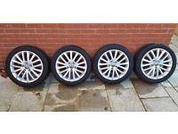"VW 17"" inch genuine Golf Jetta alloy wheels - alloys with Michellin tires superb condition"