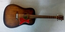 Tanglwood Acoustic Electric Guitar with new padded case