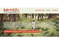 Into the trees, Family festival (Weekend tickets). 14,15 &16 Sept 2018