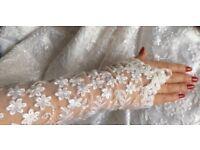 White/Ivory lace bespoke custom made wedding dress