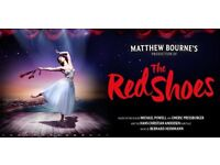 THE RED SHOES. MATTHEW BOURNE'S FABULOUS NEW BALLET! TWO TICKETS FOR THE BEST SEATS IN THE HOUSE!