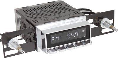 RetroSound Radiomodul Laguna mit Chrom Display Motor-1 Retro Autoradio AUX-IN