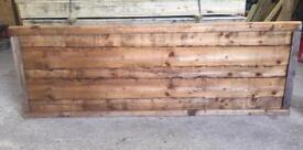 Heavy duty waneylap pressure treated fence panels