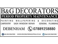 Professional Decorator & Property Maintenance,covering Woodbridge Framlingham Debenham Ipswich ETC