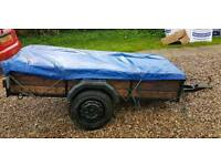 2 wheeler trailer with cover
