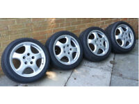 Porsche Replica Cup 1 17inch Alloy Wheels With Avon ZZ3 Tyres
