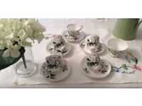Vintage royal Staffordshire coffee cups and saucers