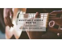 Musician / singer wanted for opening night and future gigs