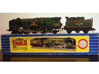 "Hornby-Dublo 3235 4-6-2 S.R. West Country Locomotive 34042 ""Dorchester"" & Tender (2-rail) B.R. Green"