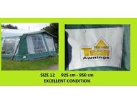 Caravan Awning Size 12 Pyramid Tuscany 925cm - 950cm Swift Ace Abbey BARGAIN