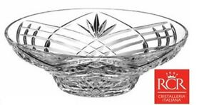 RCR Crystal Orchidea 30cm Bowl Large Lead Italian Crystal Fruit Centerpiece Bowl