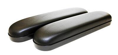 "Full Length 14"" Black Vinyl Padded Wheelchair Arm Rest PAIR, NEW, FREE SHIPPING"
