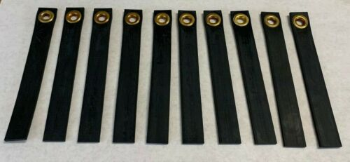 """(10) Qty. of STATIC STRAPS  8-1/2""""  x  1-1/8""""  x  3/16"""" thick, 7-16"""" ID Grommet"""