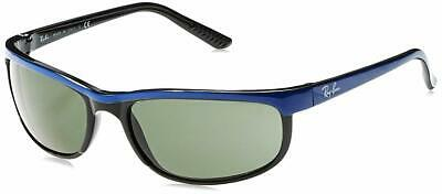 Blue Frame Green Lenses (NEW Ray-Ban 62mm Predator 2 Black & Blue Frame / Green Lenses - RB 2027 6301 62 )