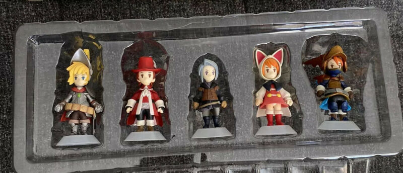 Final Fantasy III 3 Square Enix 2006 Trading Arts Mini Figure Complete Set of 5